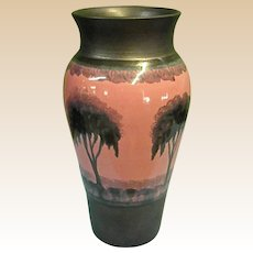 Beautiful Hand-Thrown Porcelain Pottery Vase by Nancy Bishop