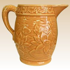 Early McCoy Water Lilly Pitcher with Fish Handle