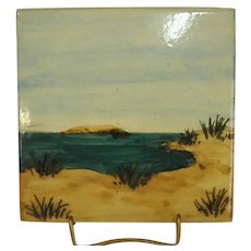 Hand Painted Tile by Liz Lawrence