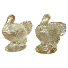 Glass Turkey Candy or Condiment Dishes
