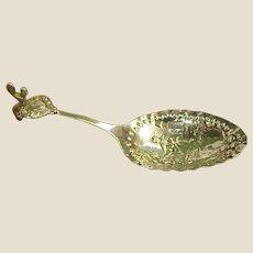 German Late 1800s Gebruder Dingeldein 833 Monkey Spoon