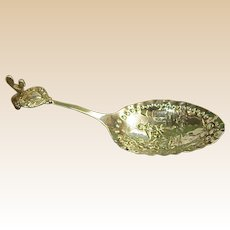German Late 1800s Gebruder Dingeldein 833 Monkey Spoon