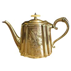 Wonderful English Daniel and Arter Electroplated Teapot