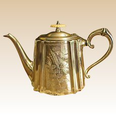 Wonderful English Daniel and Arter Electroplated Teapot