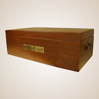 Wooden Cigar Case Made by Reed & Barton for Cuesta-Rey Cigars