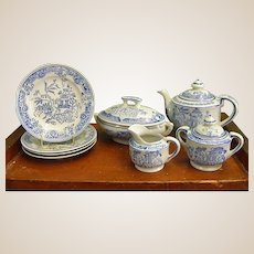 Beautiful Hand-painted Blue and White Porcelain Toy Tea Set