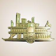 Vintage Gorham Sterling Side-Wheeler Ornament