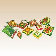Vintage Needlework Christmas Ornaments