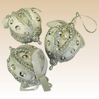 Set of Handmade Christmas Ornaments