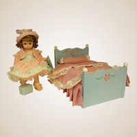 "1990s Madame Alexander Doll Bed for 8"" Wendy"