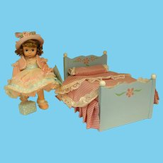 """1990s Madame Alexander Doll Bed for 8"""" Wendy"""