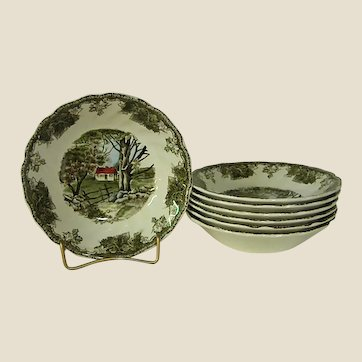 Johnson Brothers Friendly Village The Stone Wall Berry Bowls