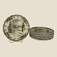 Johnson Brothers Friendly Village Sugar Maples Bread Plates
