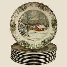 Johnson Brothers Friendly Village The School House Dinner plate