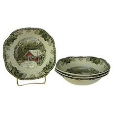 Johnson Brothers Friendly Village The Covered Bridge Soup Bowls