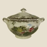 Johnson Brothers Friendly Village Sugar Bowl The Lily Pond