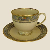 Gorgeous Lenox Autumn Footed Cup and Saucer
