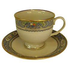 Gorgeous Lenox Autumn Footed Cups and Saucers