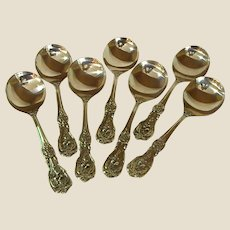 Gorgeous Francis 1st Solid Sterling Cream Soup Spoons by Reed & Barton