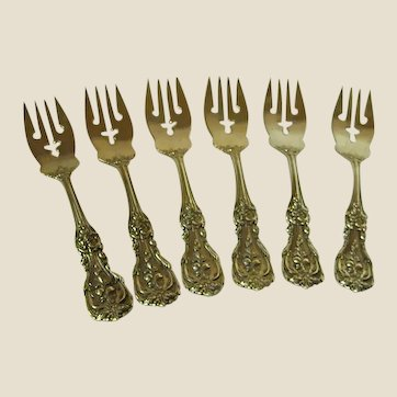 Gorgeous Francis 1st Solid Sterling Salad Forks by Reed & Barton