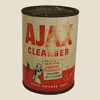 1940s-1950s Salesman's Sample Size Ajax Cleanser