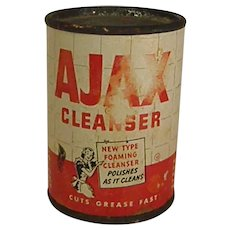 1940s-1950s Salesman's Sample Size Ajax Cleanser