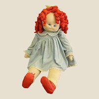 Vintage Handmade Life Size Cloth Doll
