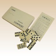 Vintage Puremco No. 616 Marblelike Personalized Dominoes