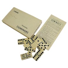 Vintage Puremco No. 616 Marblelike Personalized Dominoes