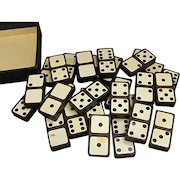 Whiteface Dominoes with Original Case by The Embossing Company Albany, New York