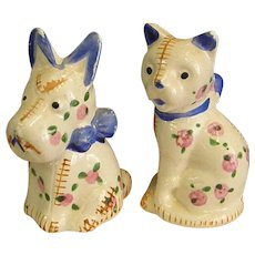Vintage Dog and Cat Salt and Pepper Shaker