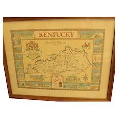 Historical and Geographical Map of Kentucky by Karl Smith dated 1942