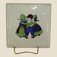 German Porcelain Trivet with Dutch Children
