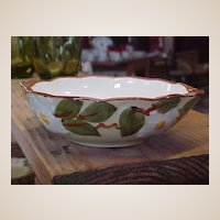 Vintage Hand Painted Stangl White Dogwood Lugged Soup Bowls