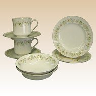 Johann Haviland Forever Spring Bread Plates, Berry Bowls, Cups and Saucers