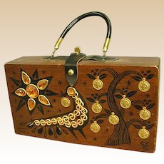 1964 Hand Decorated Enid Collins Box Purse