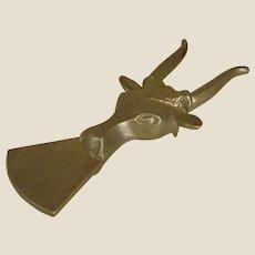 Metal Longhorn Cow Boot Jack