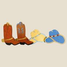 Fun Set of Handmade Wooden Cowboy Button Covers
