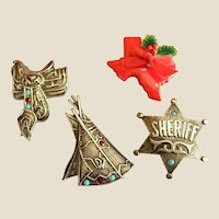Fun Western/Texas Themed Button Covers