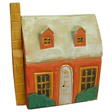 Cute Vintage Painted Decorative Wooden Cottage