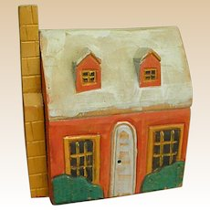 Cute Vintage Painted Decorative Wooden Cottage