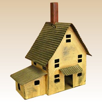 Cute Little Miniature Primitive Metal House