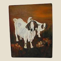 Darling Oil on Canvas Goats
