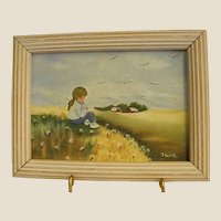 Sweet Small Painting of Little Country Girl