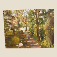Wonderful Oil Painting of Shady Southern Park
