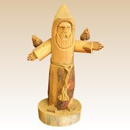 Wood Sculpture of St. Francis by the Late Artist Hector Rascon