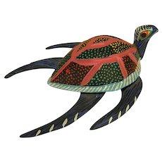 Charming Folk Art Turtle by Vicente Hernandez Vasquez