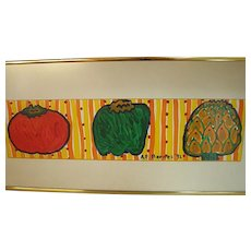 Cheery Signed Kitchen Painting