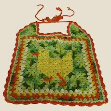 Darling Crocheted Baby Bib with Duck