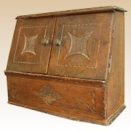 Sweet Antique Handmade Wooden Document Box/Rack
